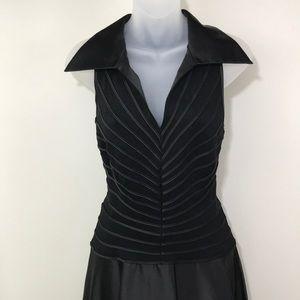 Vintage Tadashi Shoji Black Collar Dress